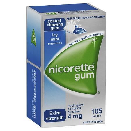 nicorette 力克雷 冰凉薄荷口味戒烟口香糖 105粒